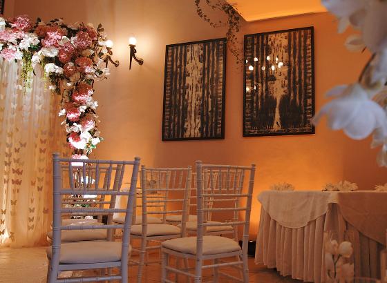 Зал для свадебной церемонии в замковом стиле в Киеве